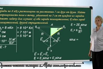 Решение задач на напряженность электрического поля (урок 2)