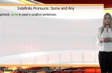 Indefinite Pronouns. Some and Any